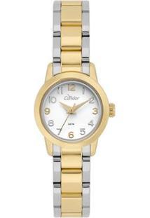 Relógio Condor Mini Bicolor Co Feminino - Feminino-Dourado