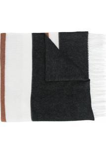 Peserico Xale Color Block - Preto