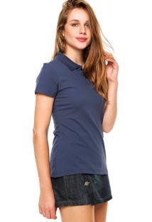 Camisa Polo Malwee Botões Azul-Marinho