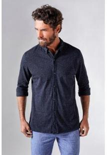 Camisa Reserva Botone Masculina - Masculino-Preto