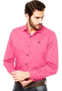 Camisa Forum Regular Fit Rosa