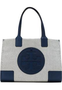 Tory Burch Bolsa Tote 'Ella Canvas' Mini - Azul