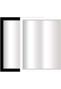 Espelho Emoldurado 40X57Cm Preto E Branco Euroquadro