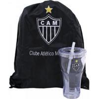 5864505557 Kit Copo Com Canudo 550Ml+Mochila Tipo Saco Atlético Mineiro - Unissex  Netshoes