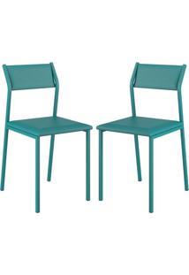 Cadeira 1709 Color Uv 02 Unidades Turquesa Carraro