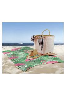 Toalha De Praia / Banho Flamingos Tropical Brasil Único
