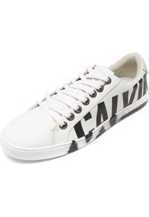 Tênis Couro Calvin Klein Jeans Cano Curto Branco