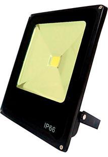 Refletor Led Slim 20W Branco Quente (Amarelo) Uso Externo