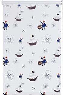 Persiana Kids Rolô Blackout Isadora Design 1,60Mx1,40M Piratas