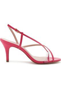 Sandália Mid Heel Strings Pink Neon | Schutz