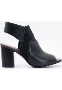 7737e33c47 Ir para a loja  Sapato Feminino Peep Toe Com Elástico Satinato