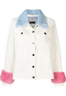 Simonetta Ravizza Denim Jacket With Fur Trim - Branco
