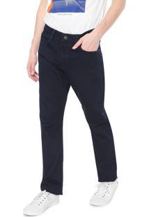 Calça Sarja Calvin Klein Jeans Reta Lisa Azul