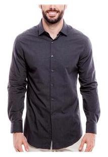 Camisa Masculina 017974 Dkny - Ebony