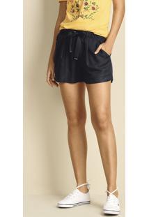a0bab43c7 Hering. Shorts Feminino Em Tecido Sarjado De Viscose Com Detalhe ...