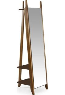 Espelho Stoka Laca Nogal/Marrom Escuro - Máxima