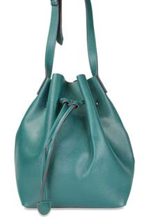 Bolsa Loucas Por Bolsas Buket Alça Transversal Loucas Por Bolsas - Feminino-Verde Escuro