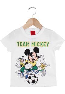 Camiseta Cativa Mickey Branca