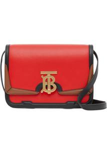 Burberry Bolsa Tiracolo Tb Pequena - Vermelho