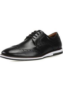 Sapato Casual Sapatofran Black-E Masculino - Masculino-Preto