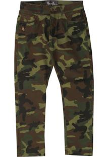 Calça Simple Skateboard Camuflada Verde