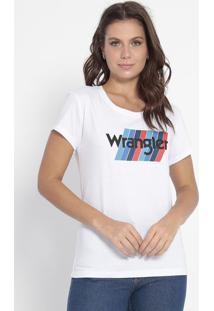 """Camiseta Geométrica """"Wrangler®"""" - Branca & Azulwrangler"""
