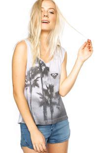 Regata Roxy Especial Palm Tree Branca