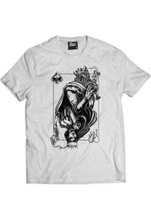 Camiseta Skull Clothing King And Queen Masculina - Masculino-Branco