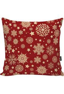 Capa Para Almofada Flocos De Neve- Vermelha & Amarelo Clstm Home