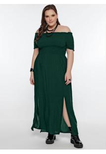 Vestido Plus Size Verde Cigana