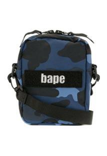 A Bathing Ape® Bolsa Tiracolo Com Estampa Camuflada - Azul