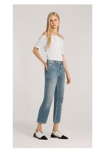 Calça Straight Cos Intermediario Bolso Relogio Jeans 36