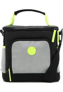 Bolsa Térmica Colcci Fitness Color Block Neon Preta/Verde