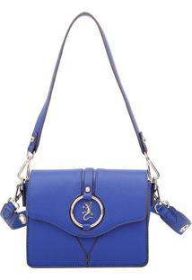 Bolsa Com Aviamento E Recortes- Azul & Dourada- 16X2Fellipe Krein
