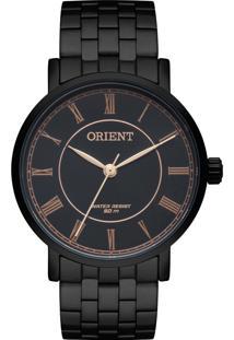 807c82028ed Eclock. Relógio Aço Dobrável Analógico Feminino Orient Clock Fpss0006p3px