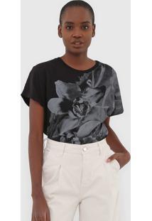 Blusa Calvin Klein Jeans Flor Preta - Preto - Feminino - Algodã£O - Dafiti