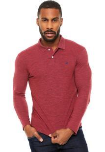 Camisa Polo Malwee Textura Vermelha