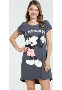 Camisola Feminina Manga Curta Mickey Disney