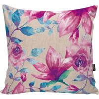 fc184aa5e Capa Para Almofada Flowers- Rosa   Azul- 45X45Cmstm Home
