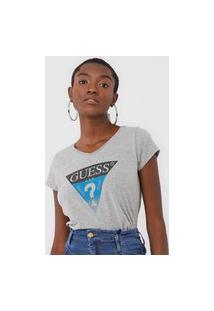 Camiseta Guess Logo Cinza