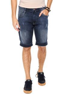Bermuda Jeans Dixie Estonada Azul