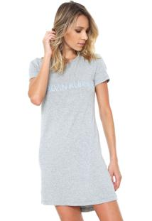 d0bb0fe7aa Camisola Calvin Klein Underwear Curto Logo Cinza