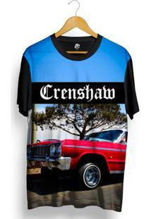 Camiseta Bsc Crenshaw Red Lowrider Full Print - Masculino