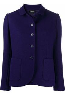 Aspesi Jaqueta De Lã Com Abotoamento Simples - Roxo