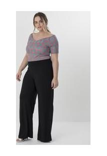 Body Ombro A Ombro Floral Curve & Plus Size