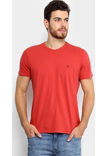 Camiseta Ellus Cotton Fine Asa Classic Masculina - Masculino-Vermelho