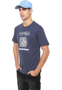 Camiseta Volcom Id Azul-Marinho