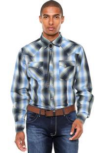 Camisa Wrangler Xadrez Verde/Azul