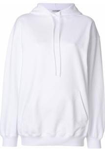 Balenciaga Blusa De Moletom Com Capuz 'Bal' - Branco