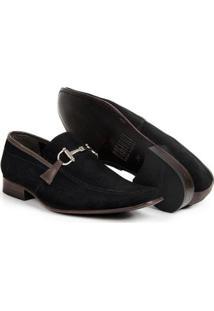 Sapato Social Masculino Bico Fino De Couro Legítimo Bigioni - Masculino-Preto